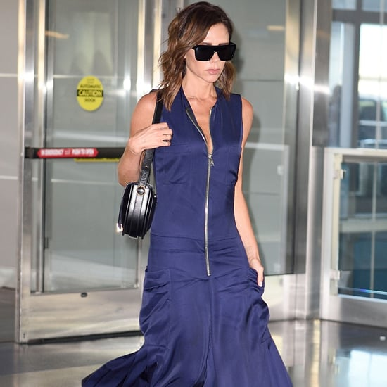 Victoria Beckham Blue Jumpsuit August 2016
