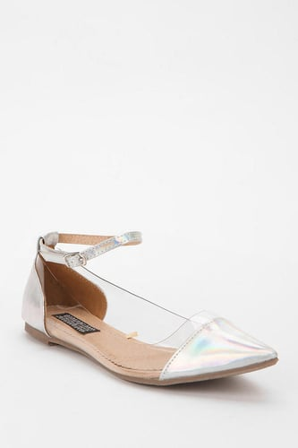 Deena & Ozzy Clear Panel Pointy-Toe Skimmer