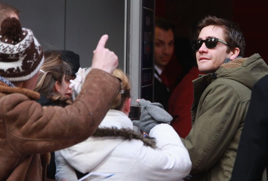 Jake Gyllenhaal signed autographs in Berlin.