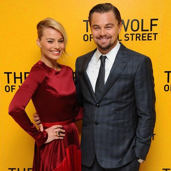 Margot Robbie and Leonardo DiCaprio at Oscars 2016