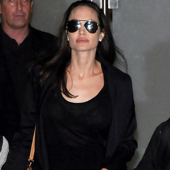 Angelina Jolie Wearing Louis Vuitton Bag at LAX