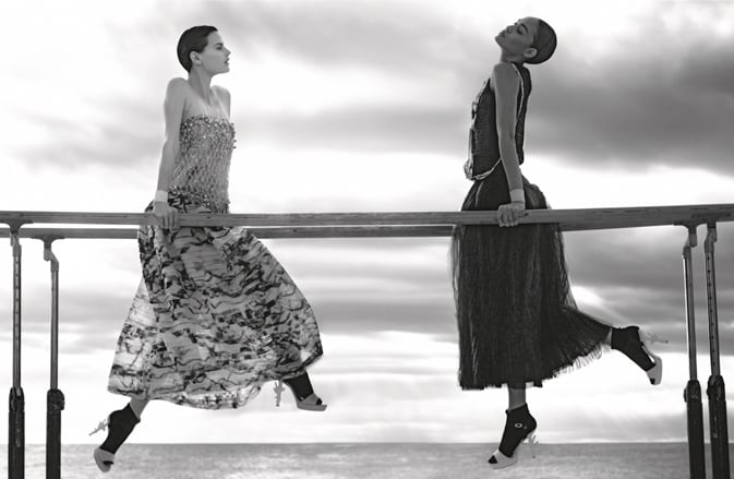 Models hang on the parallel bars in Chanel's Spring '12 ads. Source: Fashion Gone Rogue