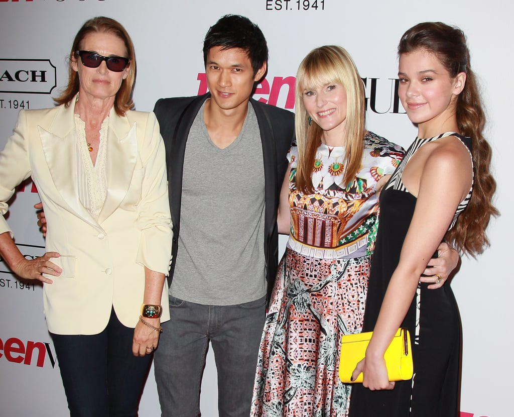 Lisa Love, Harry Shum Jr., Amy Astley and Hailee Steinfeld gathered for a group photo at the Teen Vogue Young Hollywood party in LA on Sept. 23.