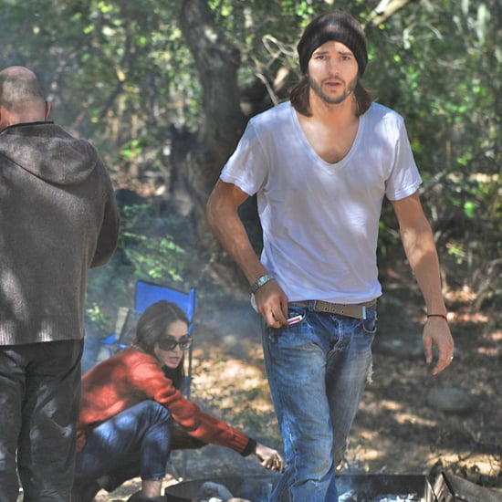 Ashton Kutcher and Demi Moore Camping Reunion Pictures
