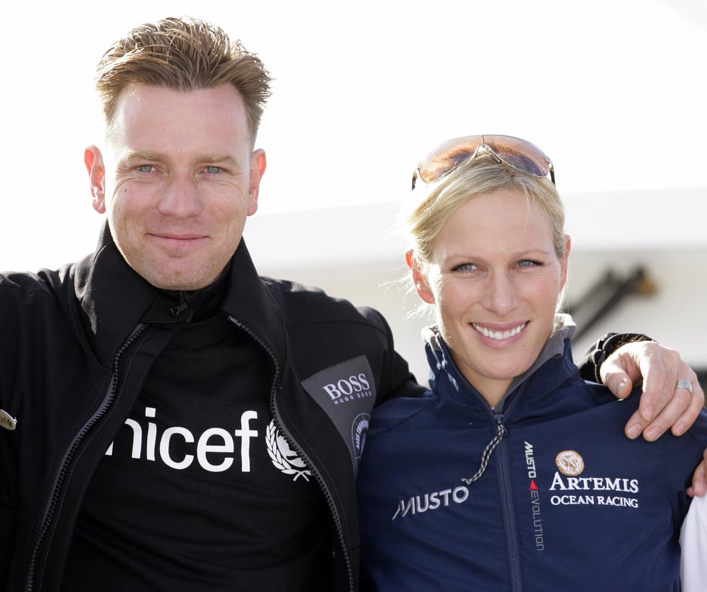 Zara and actor Ewan McGregor posed for photographs during a yacht race in August 2011.