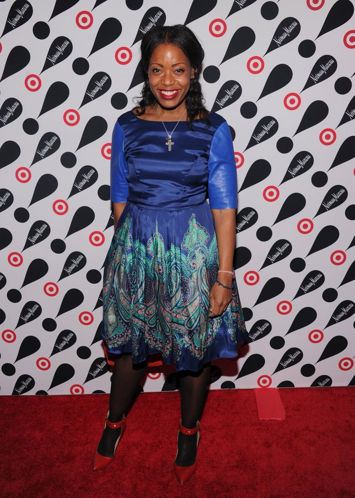 Tracy Reese showed off a festive dress from her own collection.