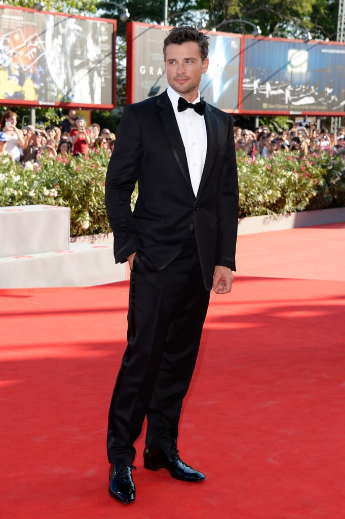Tom Welling made a dapper appearance at the Venice Film Festival.
