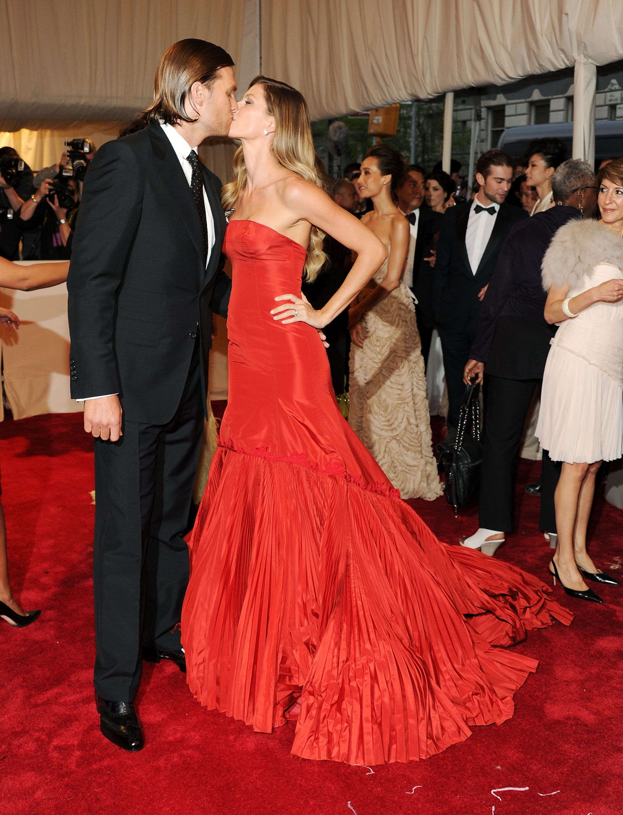 The duo shared a red carpet kiss in May 2011 at the Met Gala.