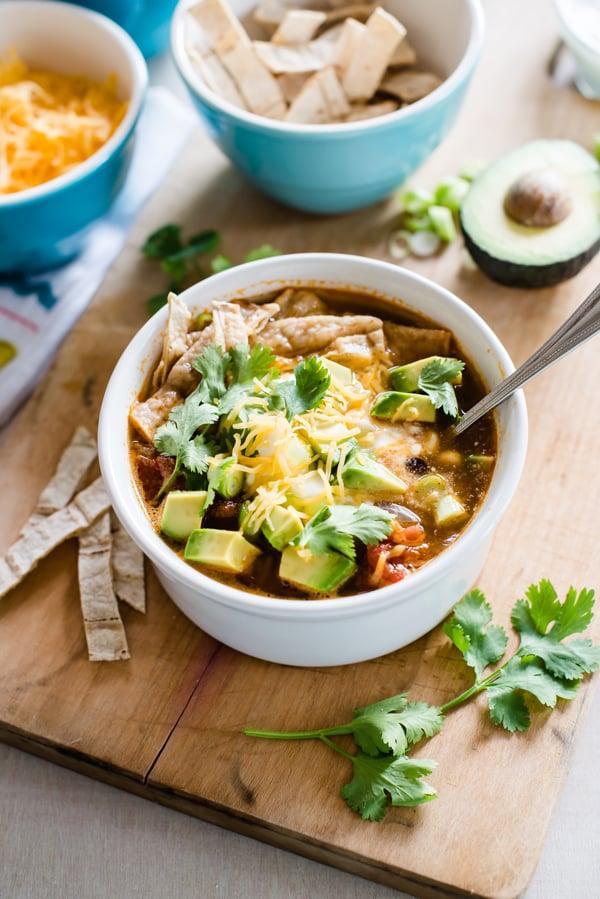 Slow-Cooker Veggie Tortilla Soup