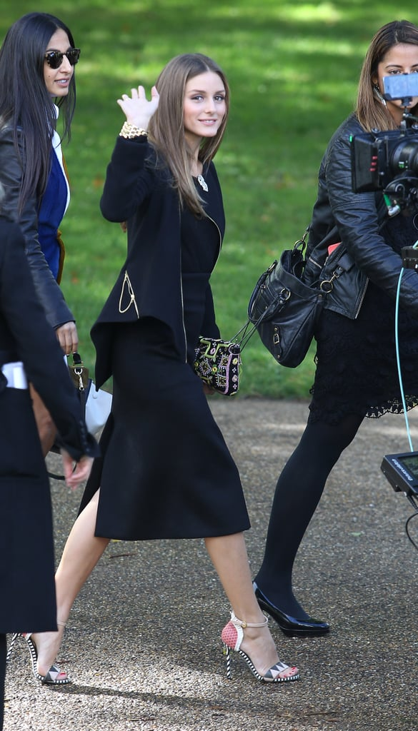 Olivia Palermo made an appearance in black.