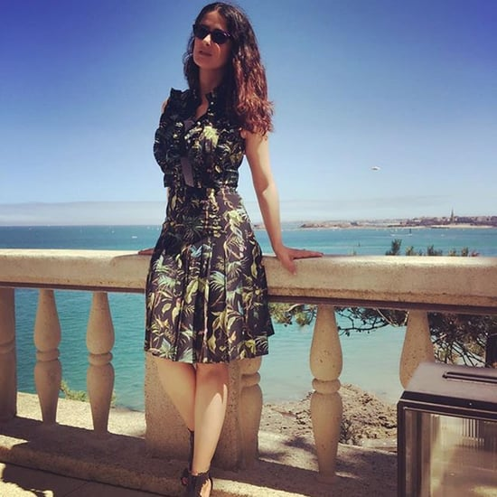 Salma Hayek Wearing Gucci in France July 2016