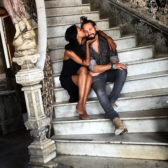Zoe Saldana and Marco Perego in Cuba