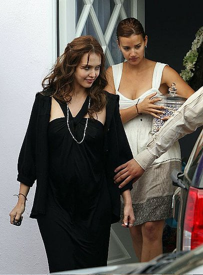 Jessica Alba raked in some goodies at her baby shower in LA.