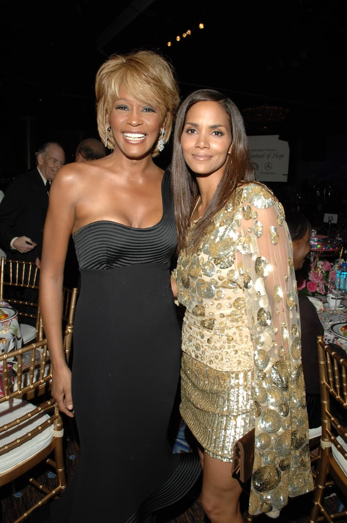 Whitney posed with Halle Berry at the Carousel of Hope Ball in 2006.