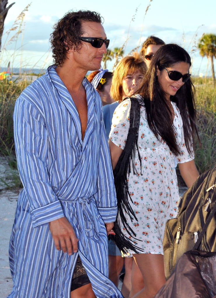 Camila Alves and Matthew McConaughey showed PDA on the set of Magic Mike in Tampa.