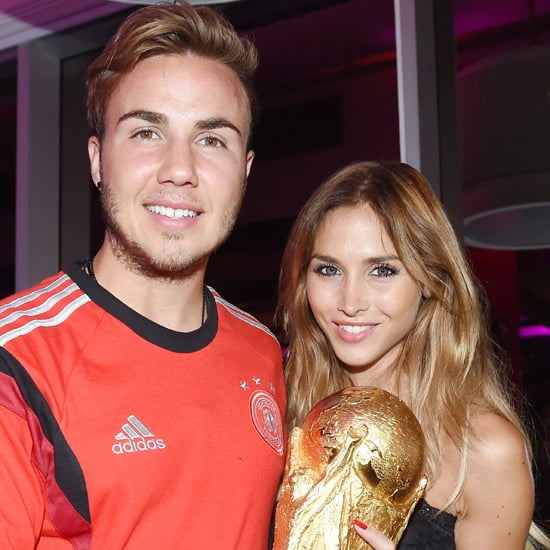 Mario Gotze Celebrates the World Cup With His Girlfriend