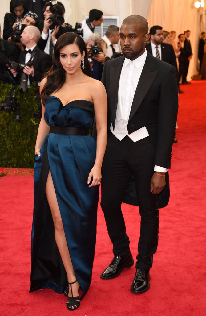Kim Kardashian and Kanye West at the 2014 Met Gala