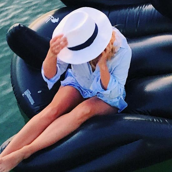 Fashion Bloggers With Pool Floats
