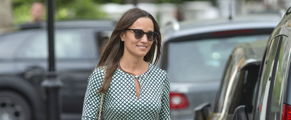 With a Quick Shoe Swap, Pippa Turned Her Polished Dress Into Something Cool and Casual