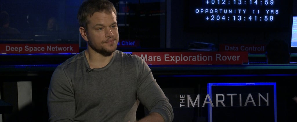 """The Martian's Matt Damon Says """"There's Just No Way"""" He Would Survive in Space"""