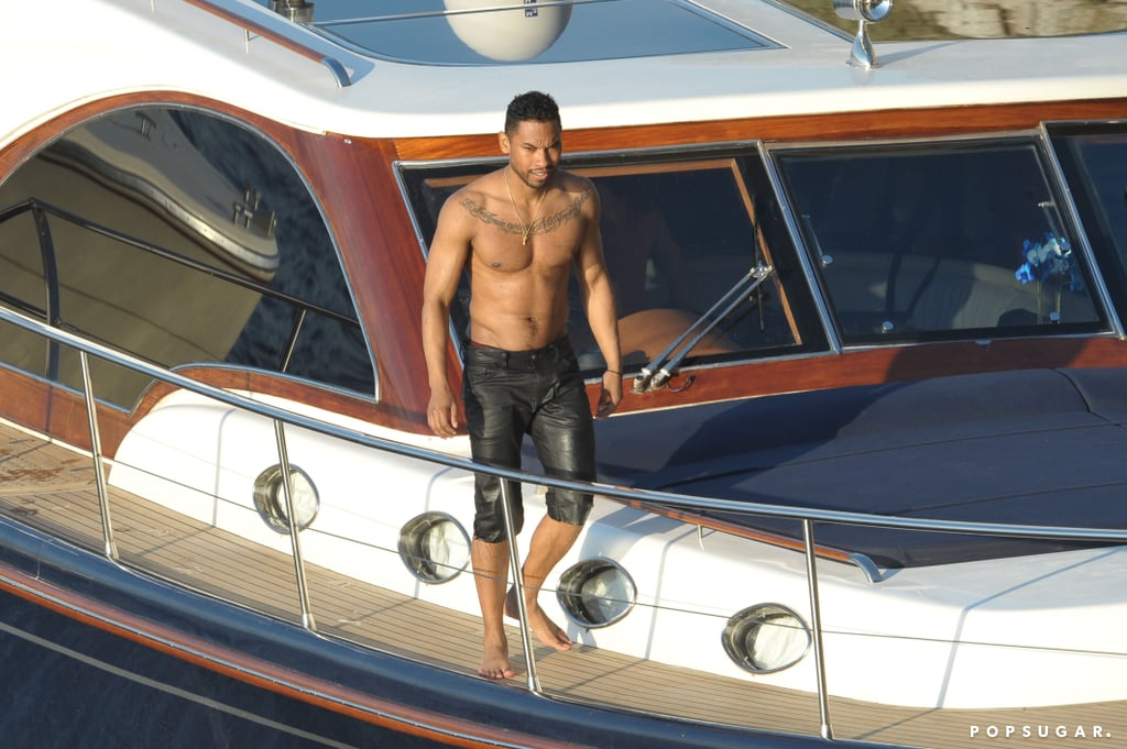 Miguel boarded a yacht in the Blue Grotto.