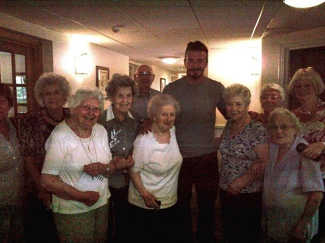 David Beckham made a surprise visit to his grandmother in London. Source: Facebook user David Beckham