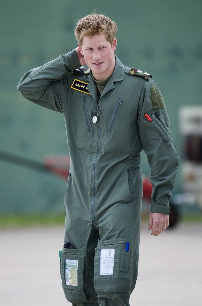 Prince Harry looked smokin' while attending a military helicopter training course in June 2009 in Shawbury, England.