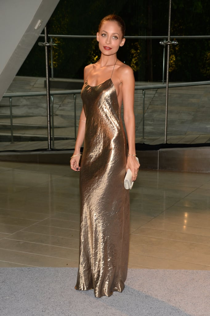 Nicole Richie wore a gold gown.