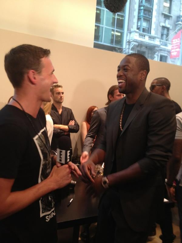 Ryan Lochte chatted with Dwyane Wade at an FNO party in NYC. Source: Instagram user eswright