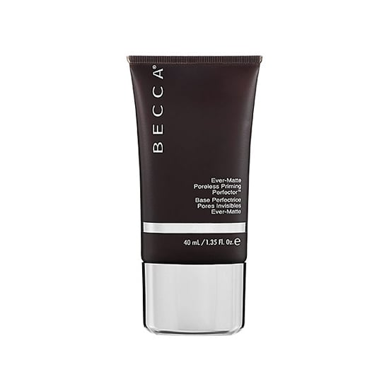 Becca's Ever-Matte Primer ($36) will ward off noontime shine so that you can cut back on powder. Just dab on your T-zone before breakfast and it will last until happy hour and beyond.  — JC