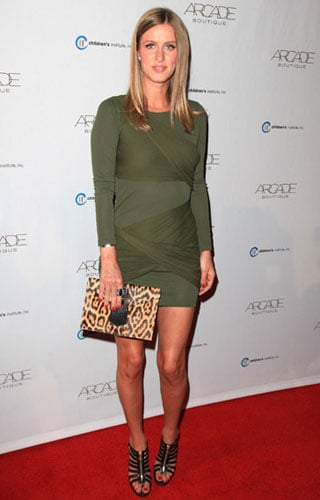 Pictures of Nicky Hilton in Leopard Print and Olive Trend