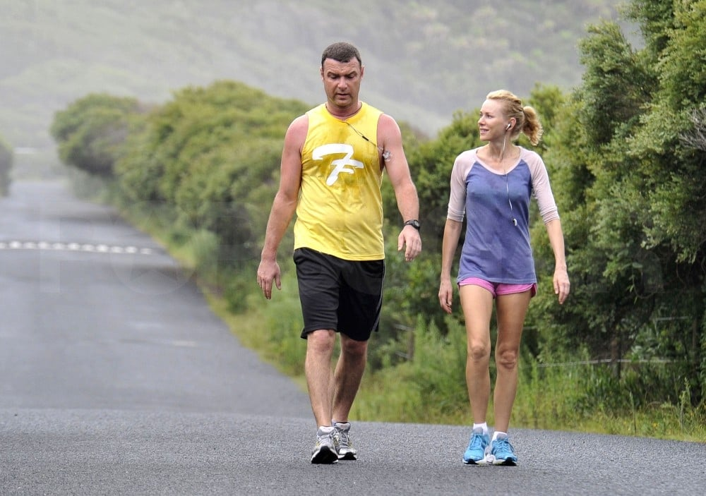 Liev Schreiber and Naomi Watts had a scenic run.