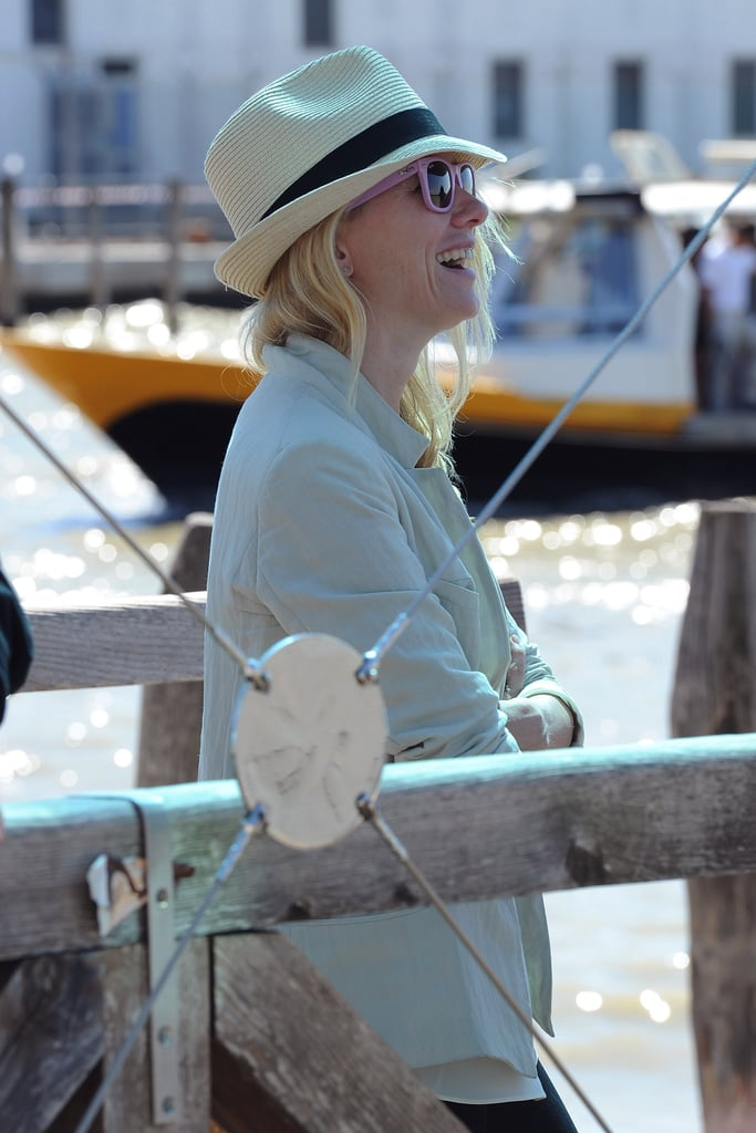 Naomi Watts laughed on her way to the Venice Film Festival.