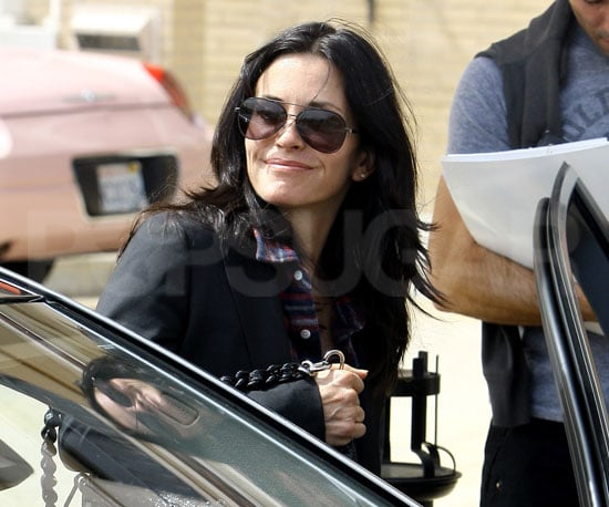 Slide Picture of Courteney Cox in LA
