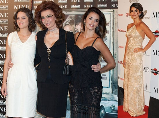 Photos From the Rome Premiere of Nine With Penelope Cruz, Sophia Loren, and Marion Cotillard 2010-01-13 17:00:00