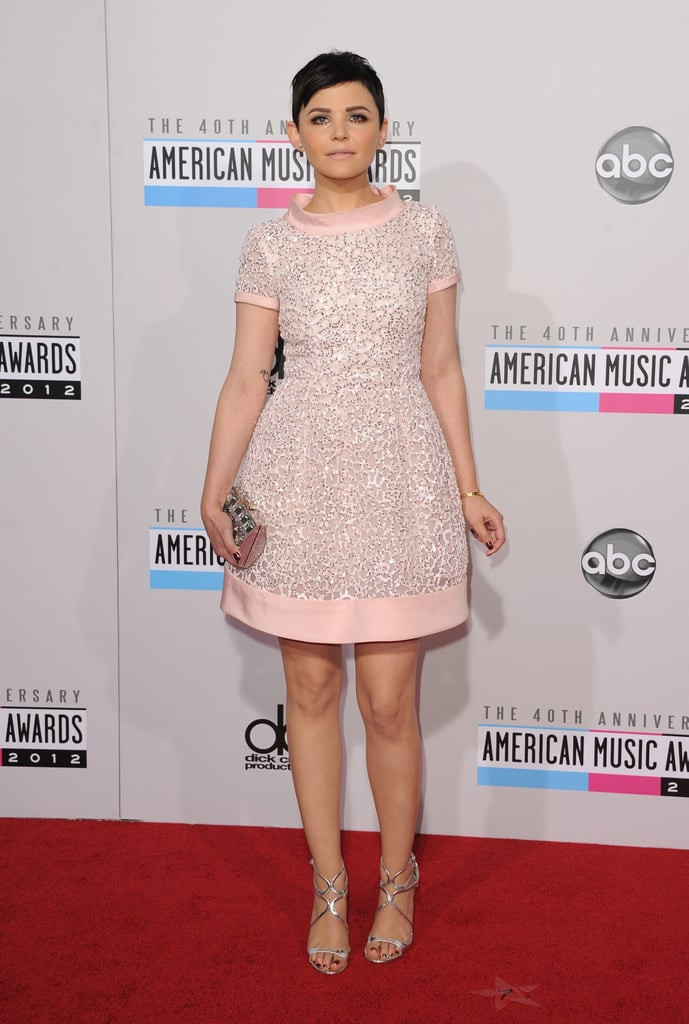 Ginnifer Goodwin, looking pretty in pink, was a standout on the American Music Awards red carpet on November 19.