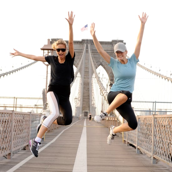 Pictures of Celebrities Jumping For Leap Year