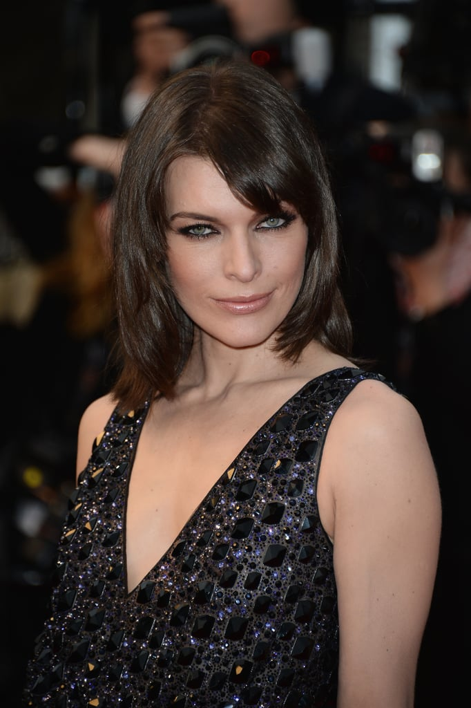Milla Jovovich played up her sultry gaze at the All Is Lost premiere with extra black eyeliner and a face-framing blowout.