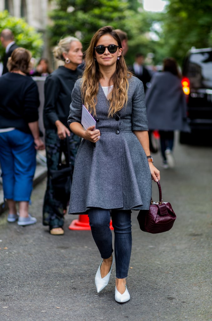 With a fit-and-flare jacket