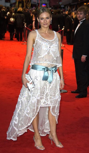 She looked ultraromantic in lace at the 2005 BAFTA Film Awards.