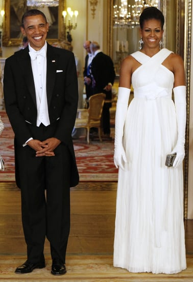 Michelle Obama Wears Tom Ford to Buckingham Palace State Dinner