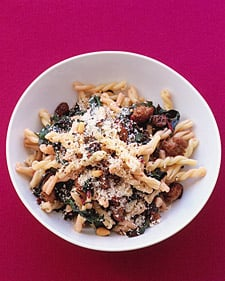 Fast & Easy Dinner: Gemelli With Sausage and Swiss Chard