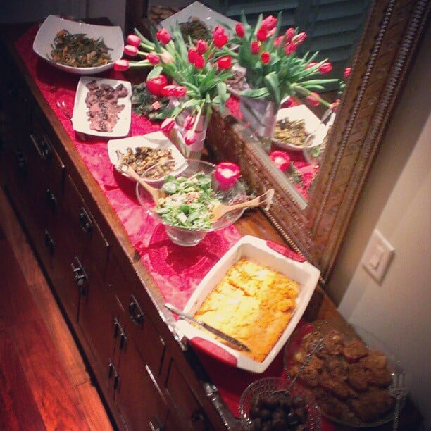 Camilla Belle gave a peep of her family's Christmas feast. Source: Instagram user camillabelle86