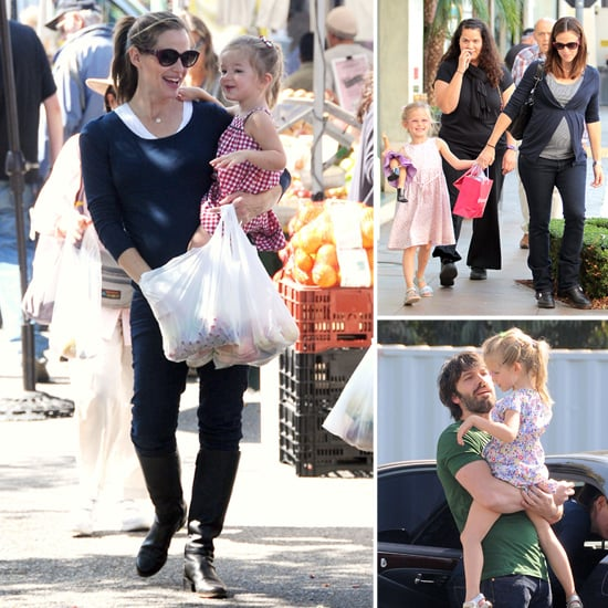 Jennifer and Violet Visit American Girl Cafe and Shop the Farmers Market With Ben and Seraphina