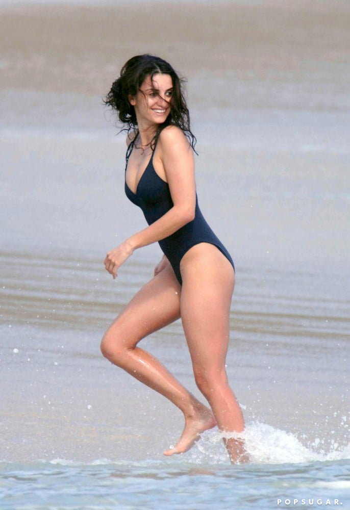 She made a statement while running through the water during a January 2007 trip to St. Barts.