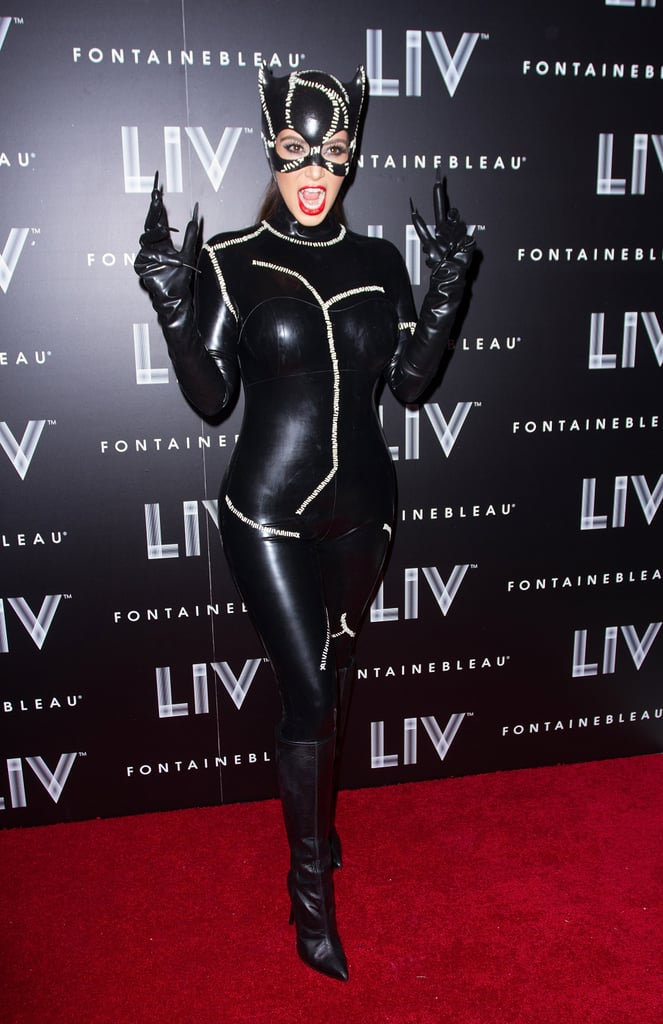 Kim Kardashian debuted a sexy Catwoman costume in Miami in 2012 at a party held at LIV nightclub.