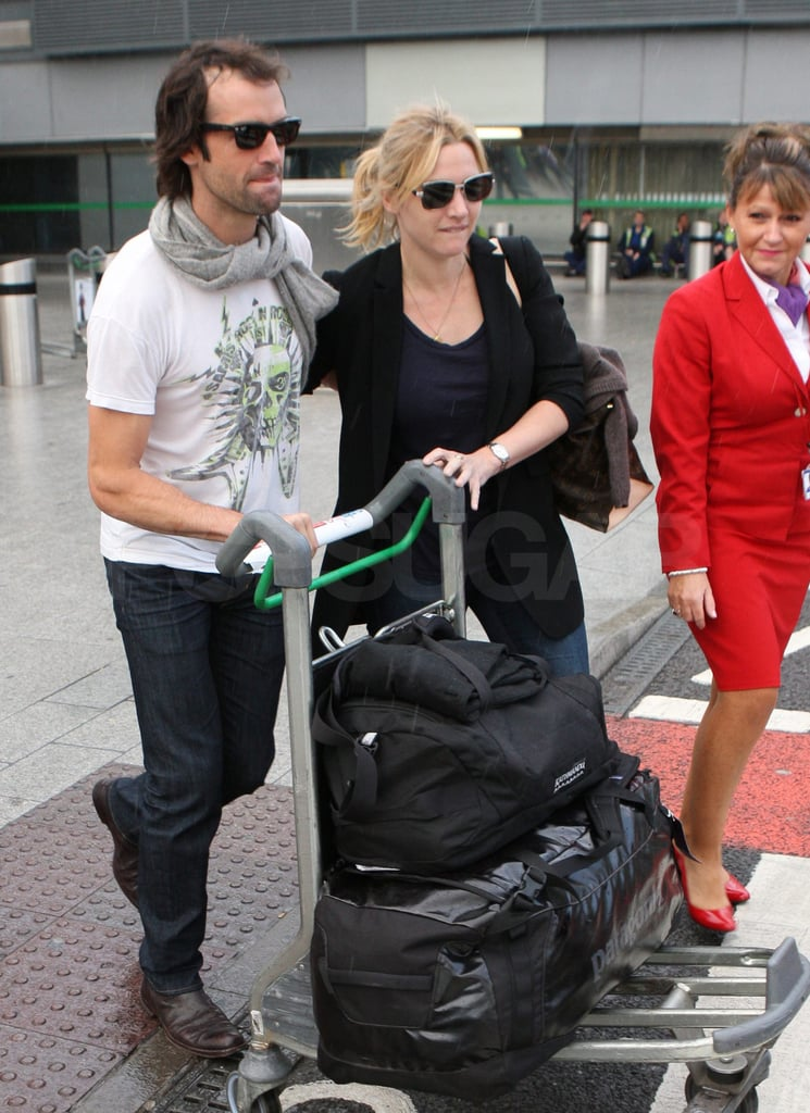 Ned and Kate were escorted out of the airport by Virgin personnel.