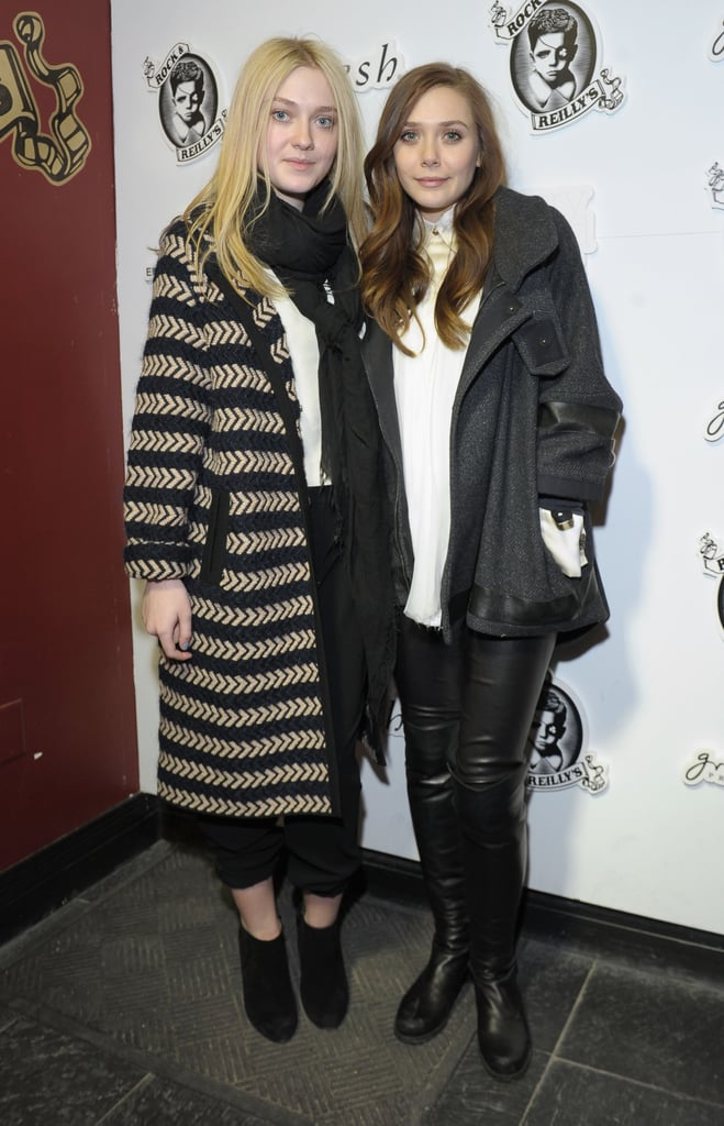 Both Dakota Fanning and Elizabeth Olsen topped their black-and-white combos with cool-girl coats.