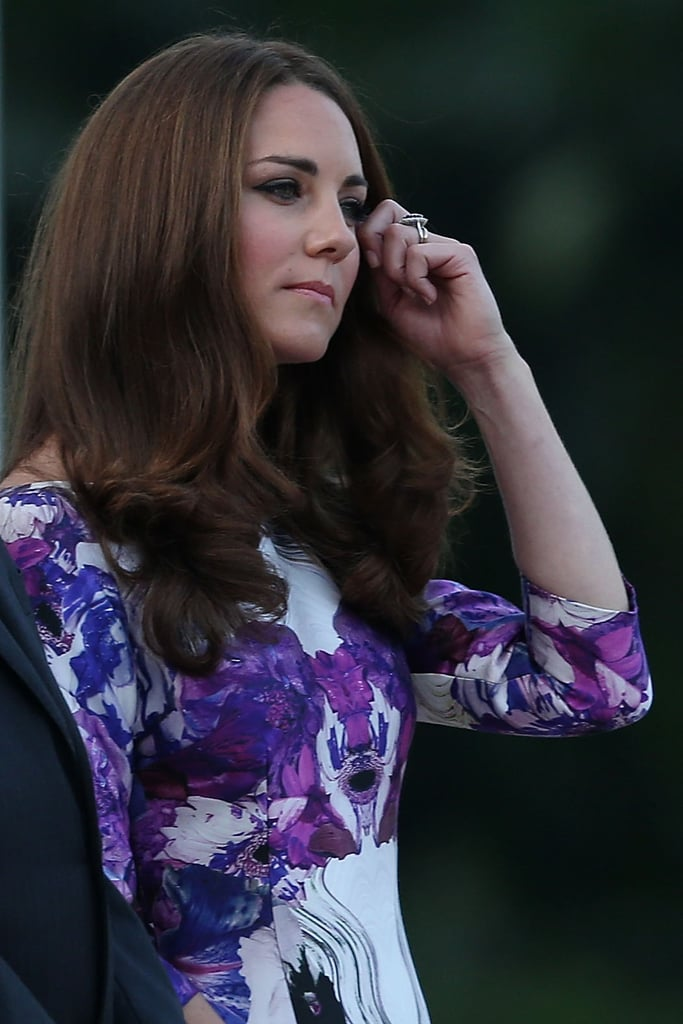 Kate Middleton donned a Prabal Gurung dress.