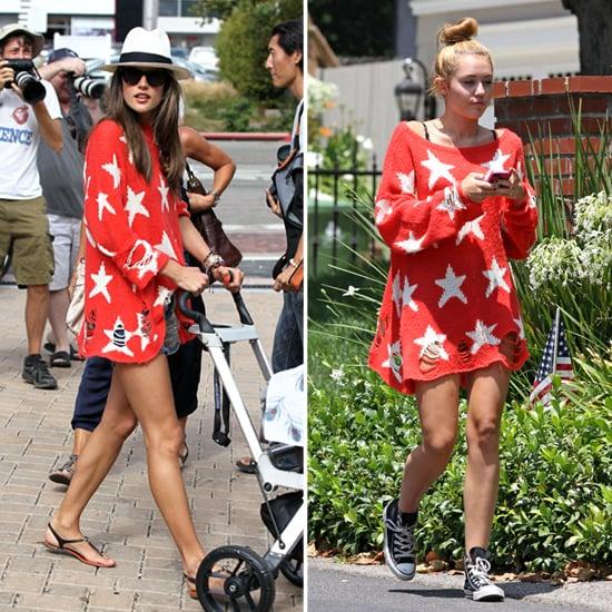 Miley Cyrus's Star-Print Sweater